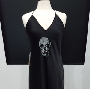 Rare VS Pink bling skull cami dress slip Halloween